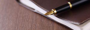 pen on journal